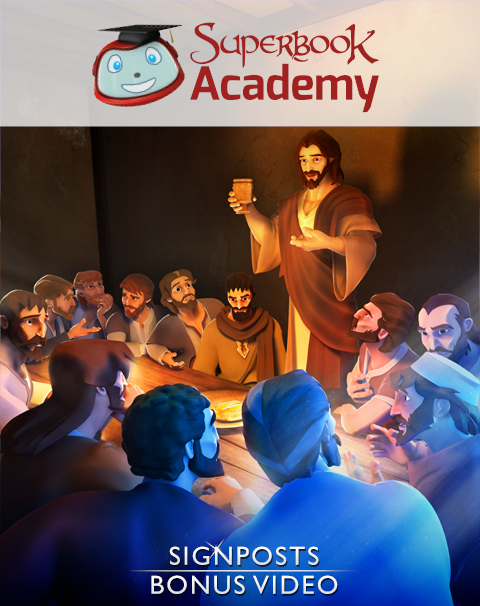 "Discover how the Superbook episode ""The Last Supper"" points to God's plan of sending His Son, Jesus Christ, to be our Savior"