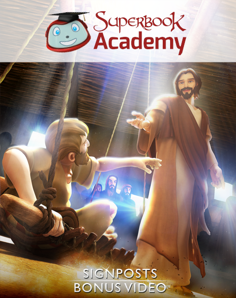 "Discover how the Superbook episode ""Miracles of Jesus"" points to God's plan of sending His Son, Jesus Christ, to be our Savior"